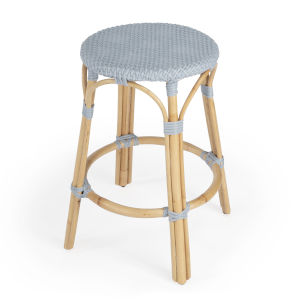 Designers Edge Tobias Blue and Beige Counter Stool