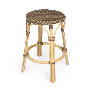 Tobias Brown 16-Inch Round Counter Stool