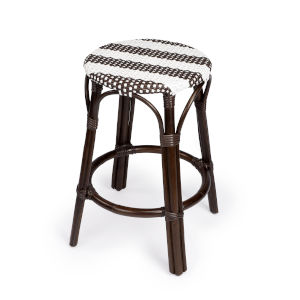 Tobias Dark Brown 16-Inch Round Counter Stool