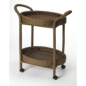 Designers Edge Pevita Rattan Serving Cart