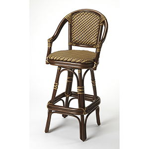 Designers Edge Renata Rattan Bar Stool