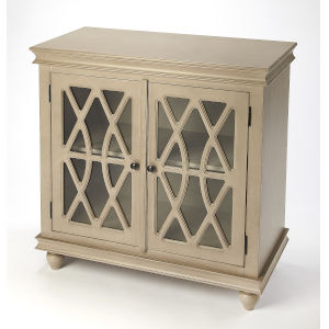 Masterpiece Lansing Natural Wood Two-Door Accent Cabinet