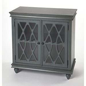 Masterpiece Lansing Twilight Blue Two-Door Accent Cabinet