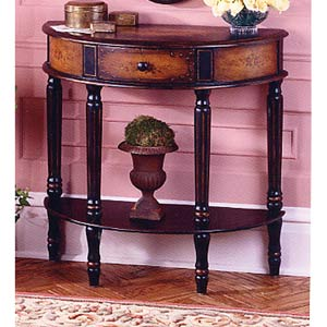 Artists Originals Coffee Demilune Console Table
