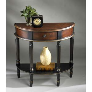 Artists Originals Café Noir Demilune Console Table