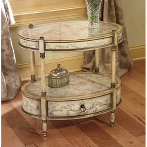 Artists Originals Tuscan Cream Oval Accent Table