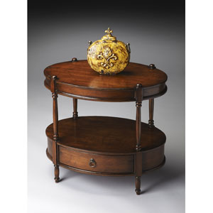 Madrid Brown Oval Accent Table