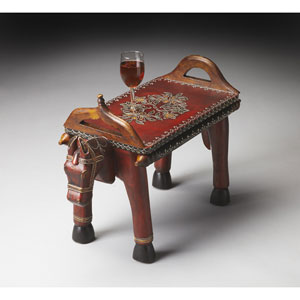 Artifacts Red Horse Accent Table