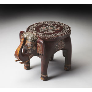 Artifacts Brown Elephant Accent Table