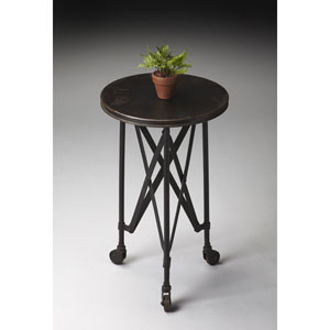 Metalworks Adjustable Accent Table with Wheels