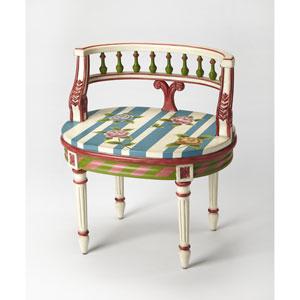 Hathaway Hand Painted Vanity Seat