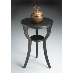 Black Licorice Round Accent Table