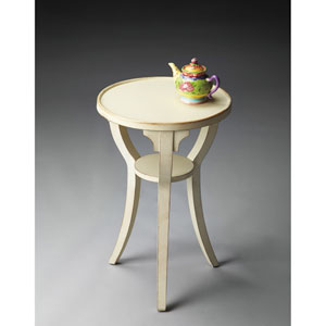 Masterpiece Cottage White Round Accent Table