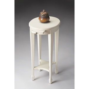 Cottage White White Accent Table