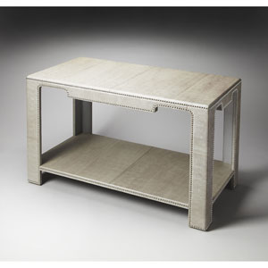 Butler Loft Shimmering Silver Nail Heads Console Table