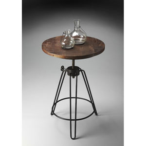 Metalworks Rotates and Adjusts Accent Table