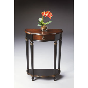 Cafe Noir Black Single-Drawer Hall Table