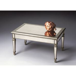 Mirror Antique Pewter Cocktail Table