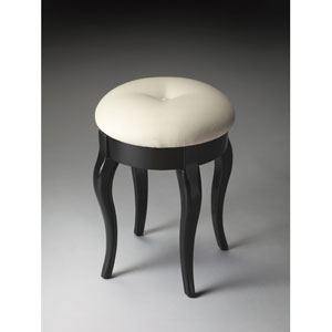Black Licorice Vanity Stool