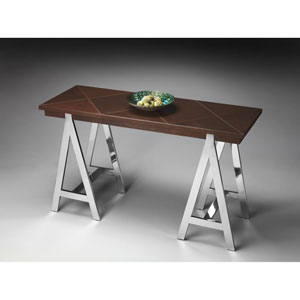 Butler Loft Stitched Leather Console Table