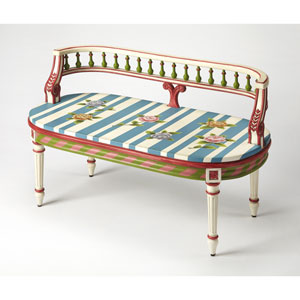 Mansfield Hand Painted Bench