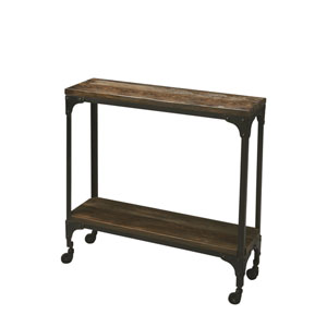 Mountain Lodge Burnt Umber Wood Console Table
