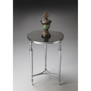 Nickel Granite Top End Table