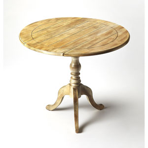 Dunlay Driftwood Drop Leaf Accent Table