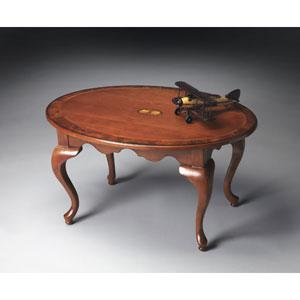 Olive Ash Burl Oval Cocktail Table