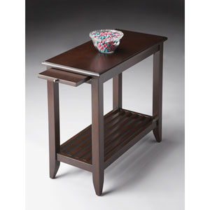 Merlot Cherry Chairside Table