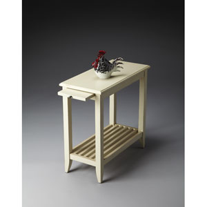 Butler Loft Cottage White Chairside Table