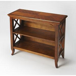 Newport Olive Ash Burl Low Bookcase