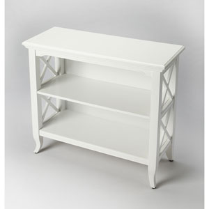 Newport Glossy White Low Bookcase