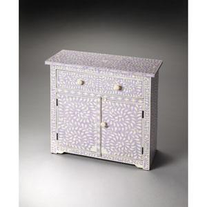Vivienne Lavender Bone Inlay Console Chest