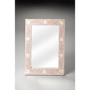 Vivienne Pink Bone Inlay Wall Mirror