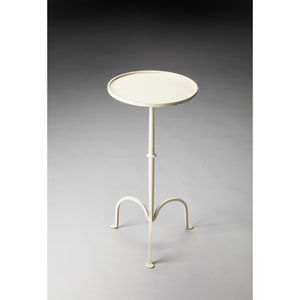Founders White Iron Pedestal Table