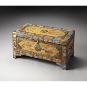 Nador Multicolor Painted Storage Trunk