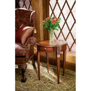 Plantation Cherry Solid Wood Circular Side Table