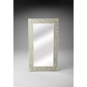 Gray Bone Inlay Wall Mirror