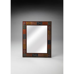 Brown Hand Painted Wall Mirror
