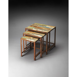Decatur Recycled Wood Nesting Tables