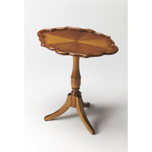Higgins Olive Ash Burl Oval Pedestal Table