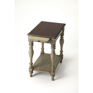Fabia Antique Gray Chairside Table