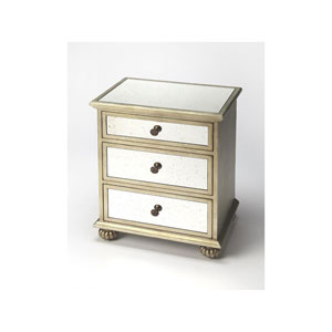 Grable Mirror and Silver Leaf Accent Chest