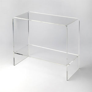 Crystal Clear Console Table