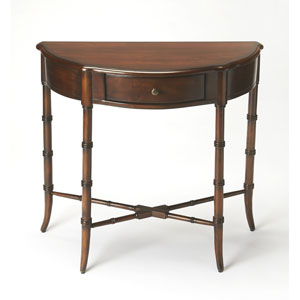 Skilling Plantation Cherry Demilune Console Table