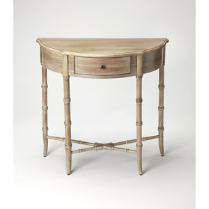 Skilling Driftwood Demilune Console Table
