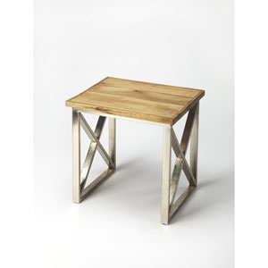 Laudan Industrial Chic End Table