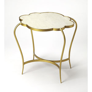 Adria White Marble End Table