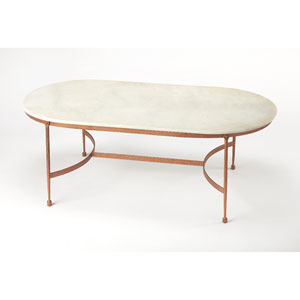 Legionary White Marble Cocktail Table